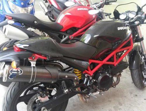 Recupación moto Ducati robada